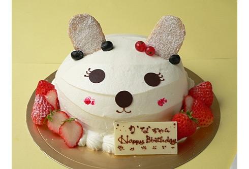 白いうさぎさんのケーキ