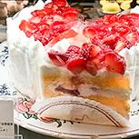 夏苺のケーキ