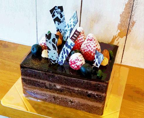 チョコケーキの4号サイズ