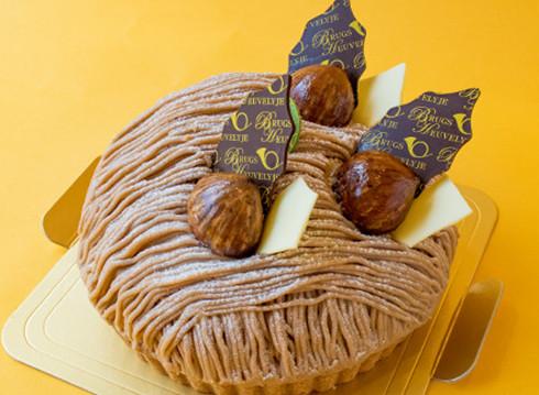 モンブランのホールケーキ