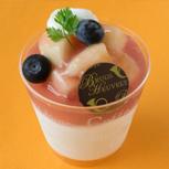桃のブラマンジェ