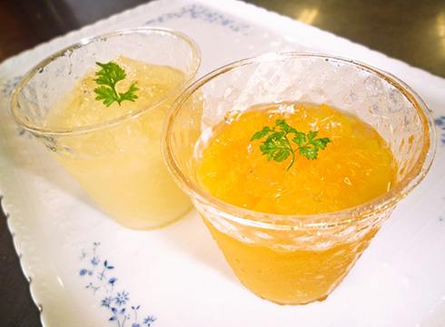 オレンジゼリー&グレープフルーツゼリー