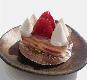 苺のミルフーユ
